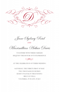 MJ's Final Wedding invite
